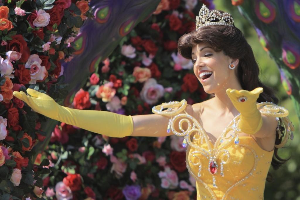 プリンセス達がお花に包まれます