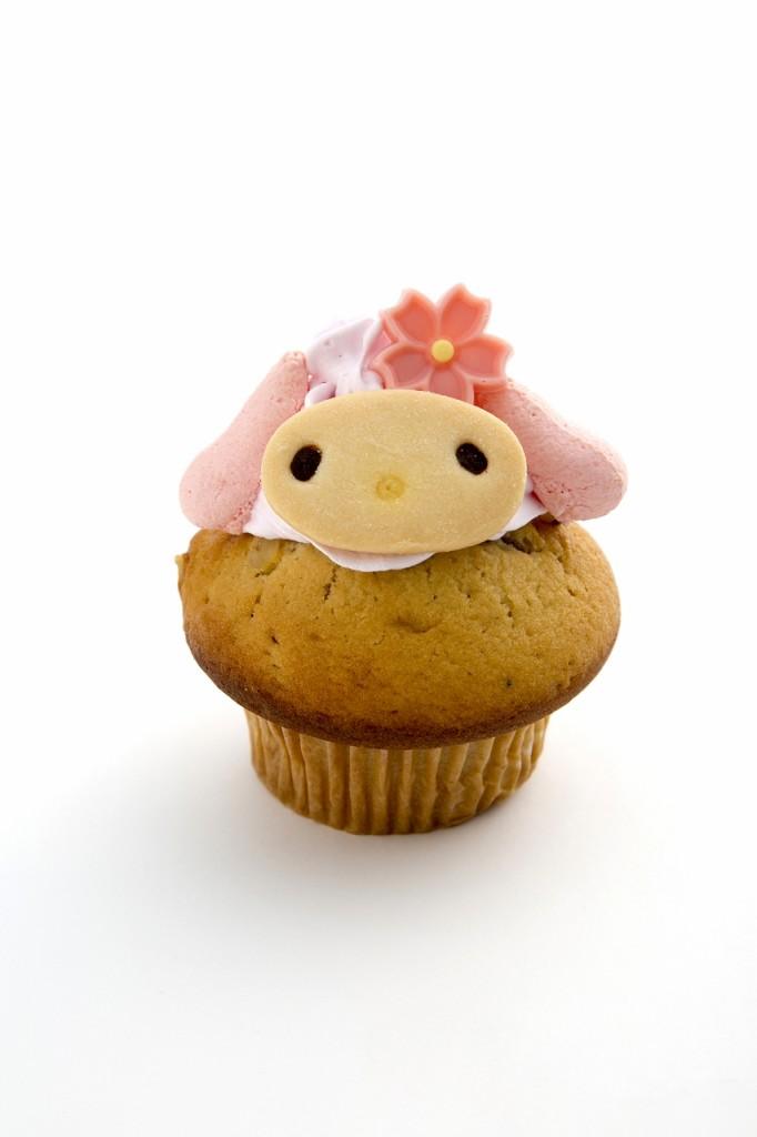 マイメロディのカップケーキ