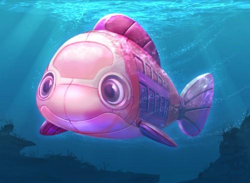 ストーリーに登場する潜水艦(イメージ)