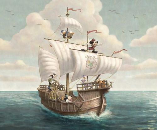 「カピターノ・ミッキー・スーペリアルーム」の壁の絵のイメージ