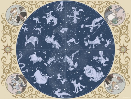 「カピターノ・ミッキー・スーペリアルーム」の天井画イメージ