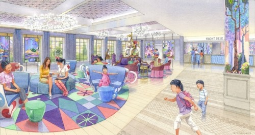 「東京ディズニーセレブレーションホテル:ウィッシュ」ロビーのイメージ