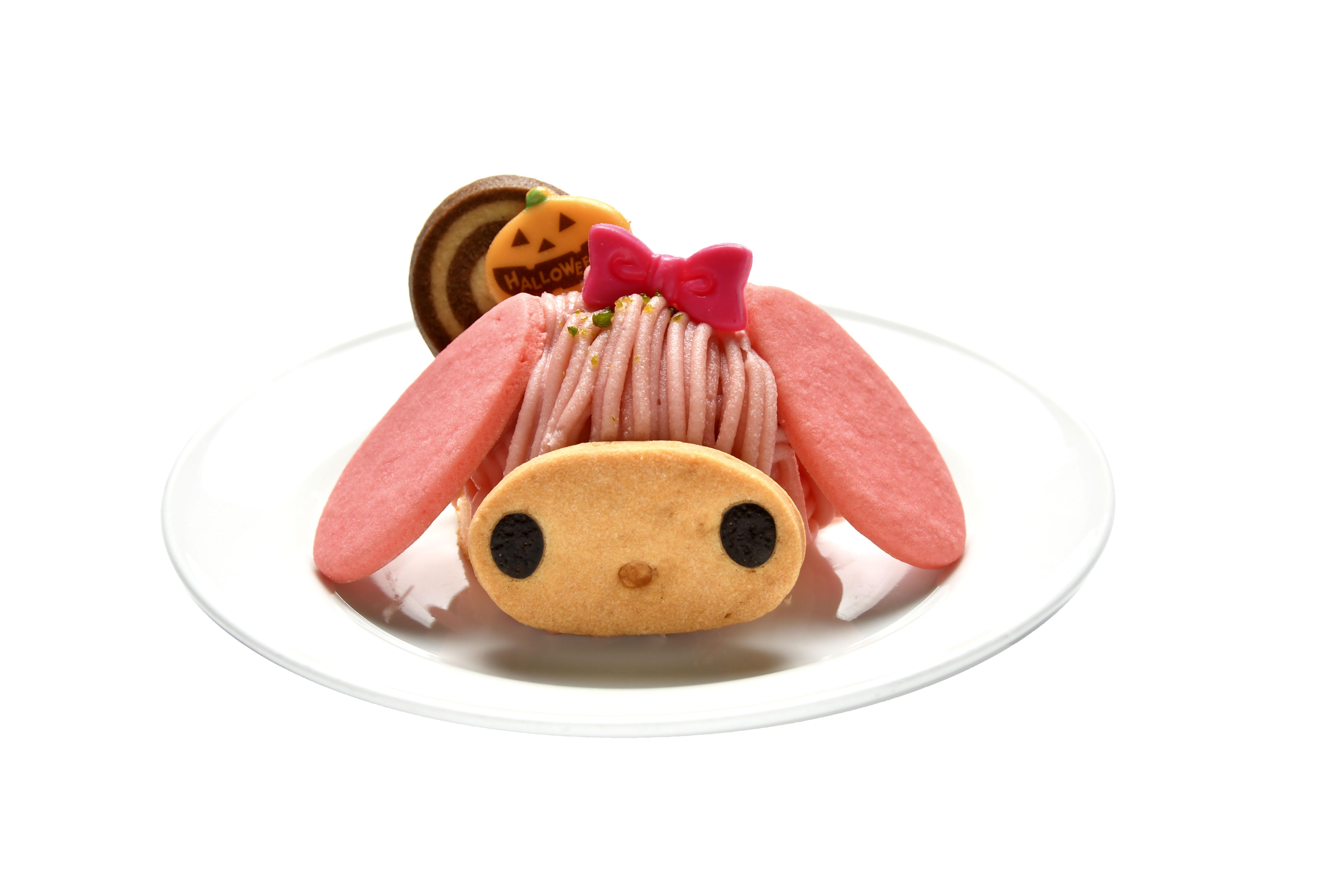 ハロウィーン限定マイメロディモンブラン(あまおう苺味、650円)
