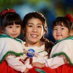 吉田沙保里さん、最愛の姪たちと一緒に、全く新しくなったパークの冬に大感動!