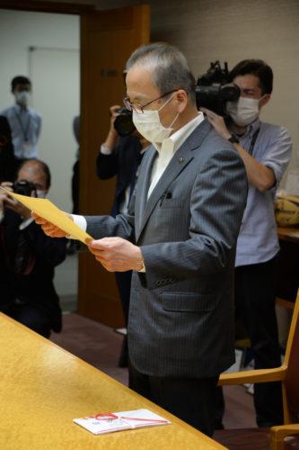 よみうりランドがポンチョを千葉県船橋市に寄贈